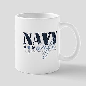 Navy Wife ... [blue] Mug